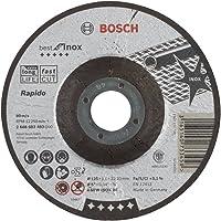 Bosch accessoires 2 608 603 493 slijpschijf Best for Inox - Rapido - A 60 W INOX BF, 125 mm, 1,0 mm (1 stuk)