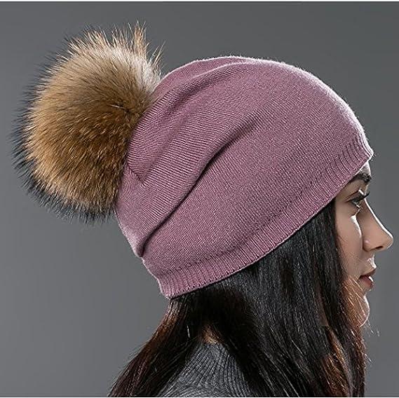 Pompon 100/% laine vierge-Femmes Hommes Pompon Bonnet Cagoule de ski-véritable laine