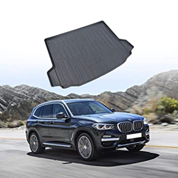 Customized for 2018 2019 BMW X3 G01 Cargo Liner Protector Rear Cargo Tray Trunk Floor Mat Black Rubber Waterproof