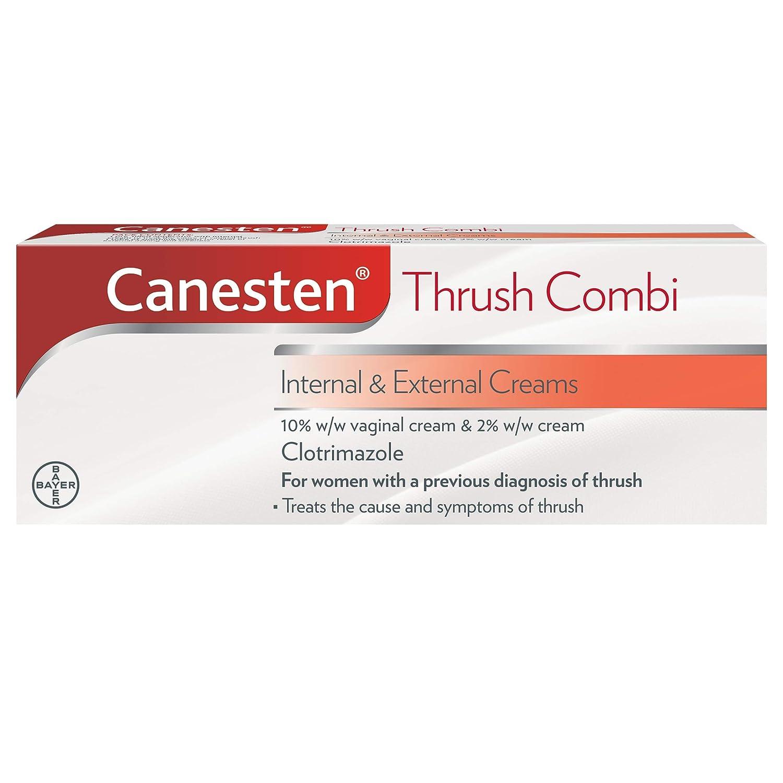 Canesten Thrush Combi Internal & External Creams, Clotrimazole, Complete  Thrush Treatment