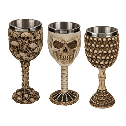 cooler vasos, copas de calavera poliresina de acero inoxidable