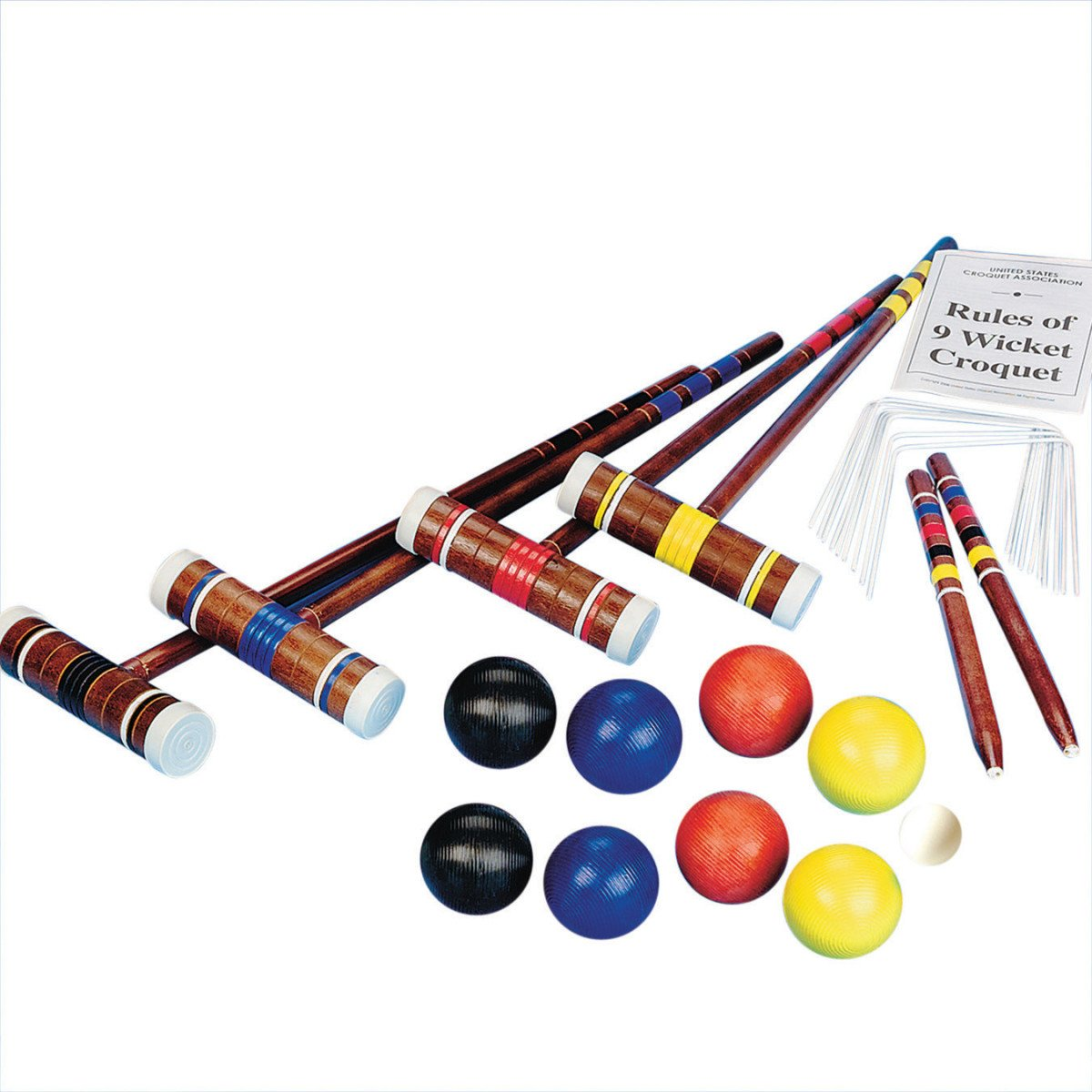 S&S Worldwide Combo Croquet and Bocce Set by S&S Worldwide