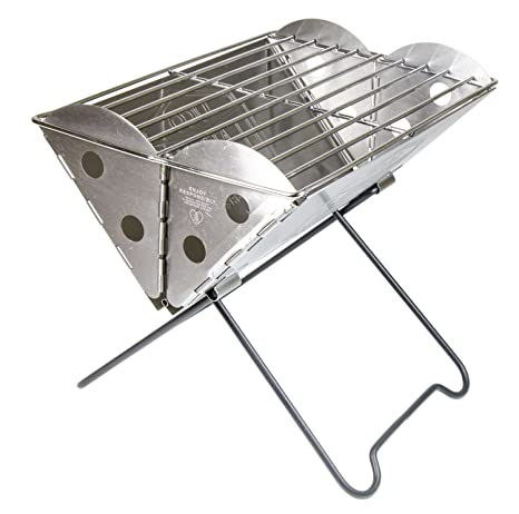 UCO Flatpack Mini Portable Stainless Steel Grill And Fire Pit