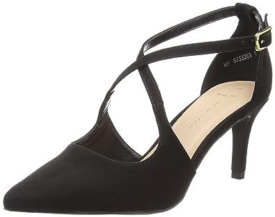 fdfa5748d2 New Look Women's Wide Foot Swirly Closed Toe Heels (Black 1), 7 UK ...