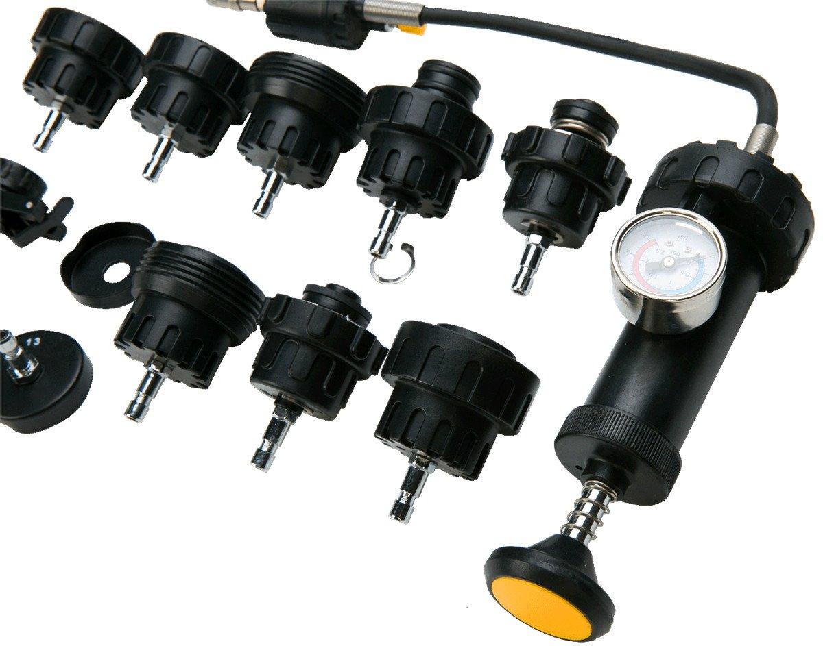 FreeTec - 18 piezas, sistema de refrigeración Tester refrigerador Bomba dispositivo de prueba prueba maletín Herramienta de aire comprimido coche: ...