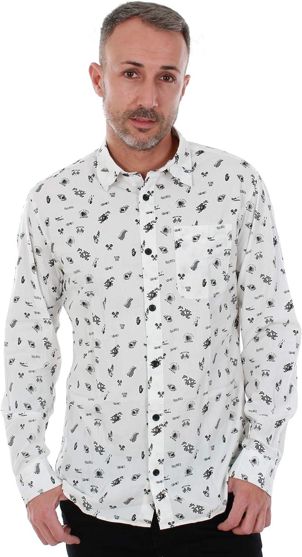 JACK & JONES Camisa Hombre Blanco 12142447 JORMORRISON Shirt LS One Pocket Cloud Dancer Slim: Amazon.es: Ropa y accesorios