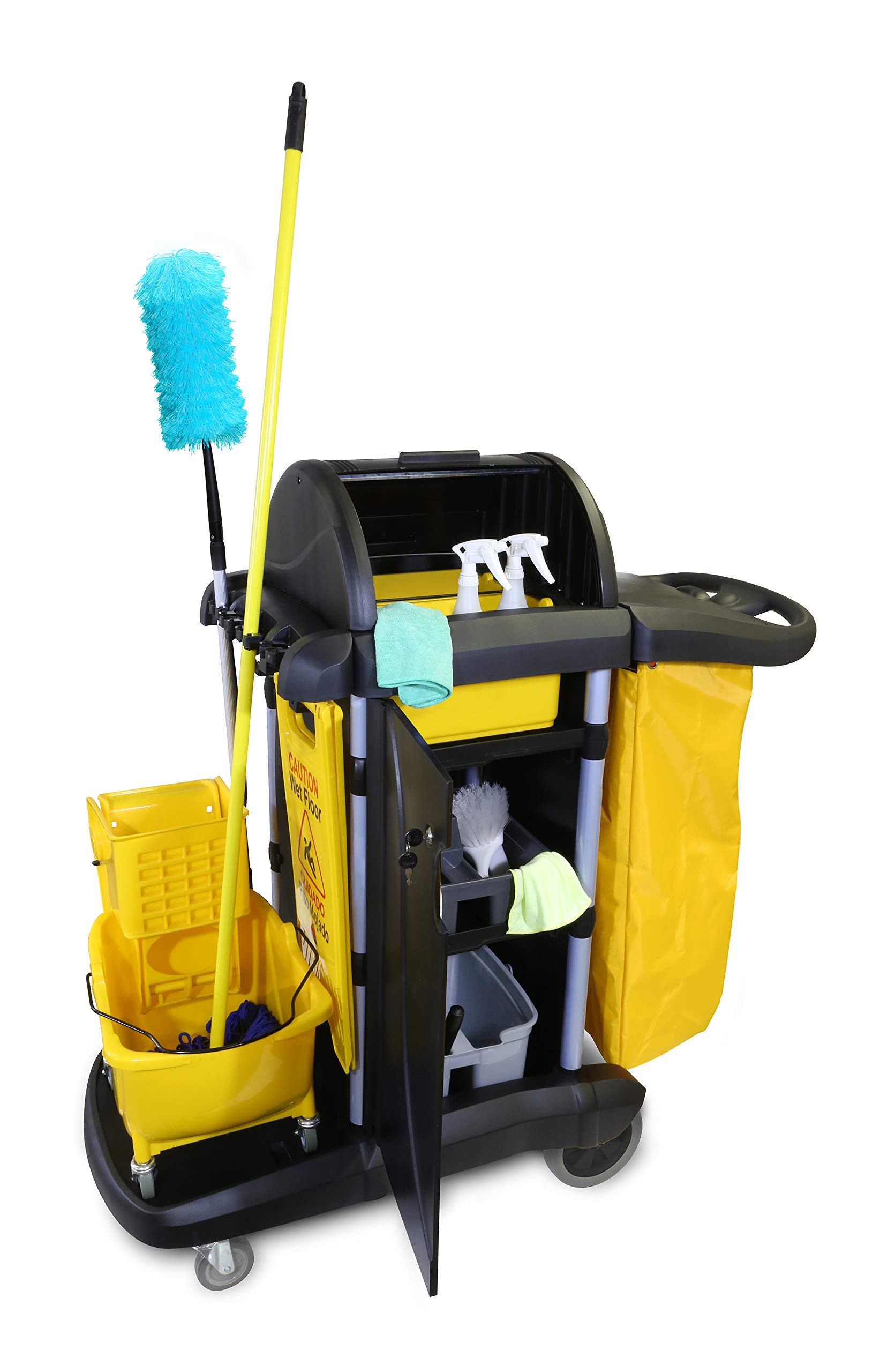 O'Cedar Commercial 96997 MaxiPlus Deluxe Janitor Cart (Pack of 1) by O-Cedar Commercial (Image #3)
