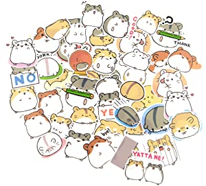 40 Pieces Waterproof Hamster Stickers for Kids Craft, Laptop, Water Bottles, Fridge, Daily Planner,