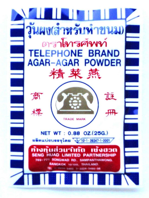 Telephone Brand Agar Agar Powder 25 g.x2 Pack