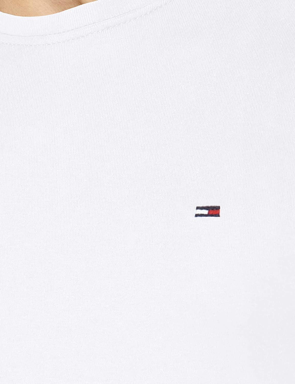 Tommy Hilfiger Original Rib Maglietta a Maniche Lunghe S Uomo Black Iris 002 Blu