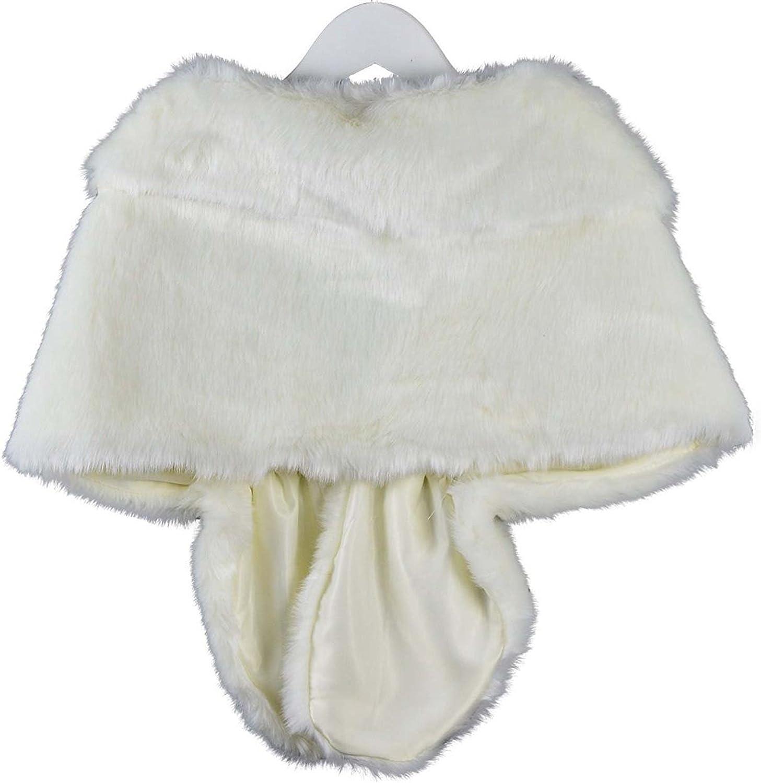 i-Furzone stola nuziale in pelliccia sintetica Perfetto per nozze festa spettacolo