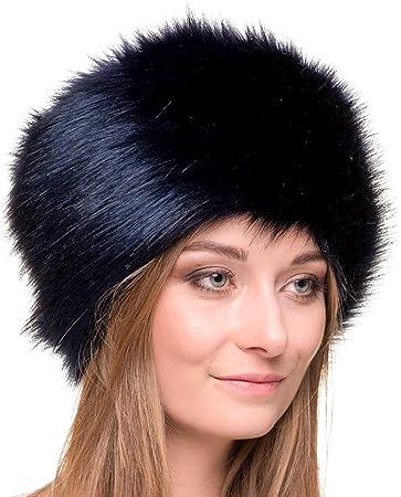 PRODUCTO - gorro de mujer de pelo en estilo ruso - llamado Cossack. Confeccionado en piel sintética