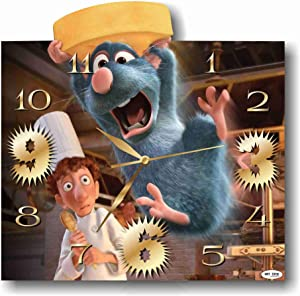 MAGIC WALL CLOCK FOR DISNEY FANS Ratatouille 11'' Handmade made of acrylic glass - Get unique décor for home or office – Best gift ideas for kids, friends, parents and your soul mates