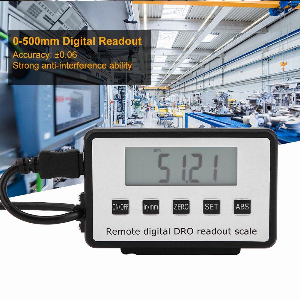 Escala lineal digital precisa lectura LCD digital de escala lineal de 0-500 mm para tornos de fresadoras