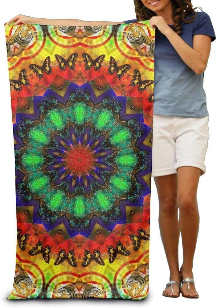 No Soy Como Tu Serviettes Plage Draps de Bain Bath Towel Psychedelic Trippy Acid Colorful Patterned Soft Beach Towel 31x 51 Towel Unique Design