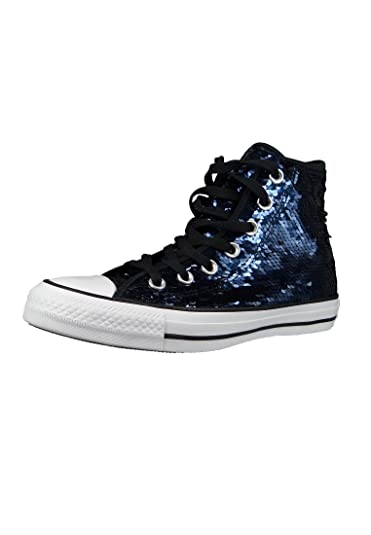 All Black Taylor Chuck Womens Converse Indigo Midnight Hi Star Ctq4HE