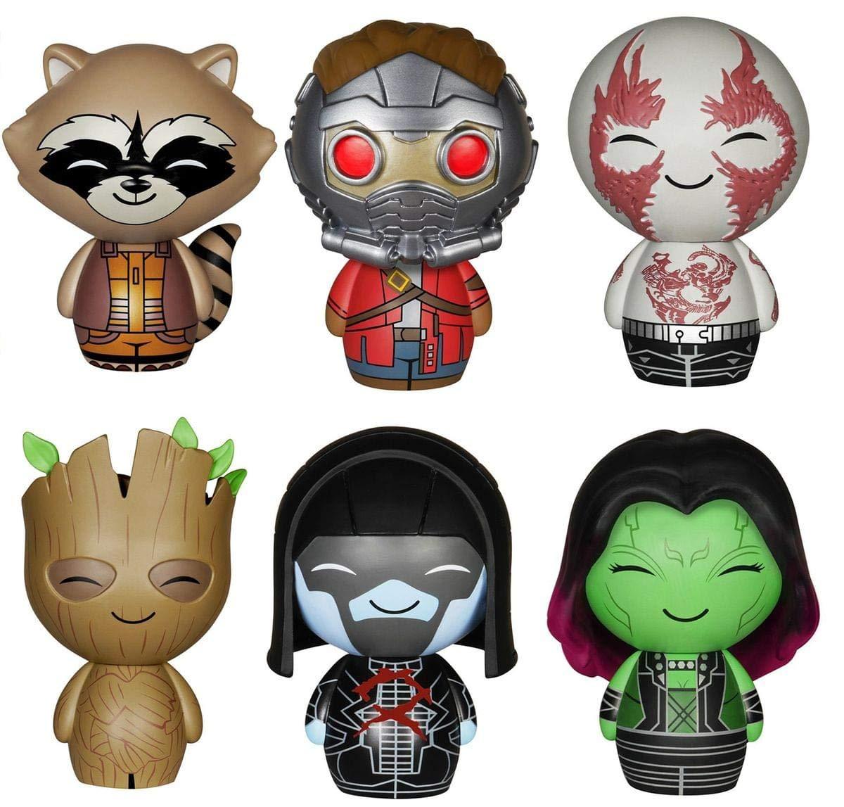Guardians of the Galaxy Dorbz Set  Rocket, Groot, Drax, Gamora, StarLord, Ronan