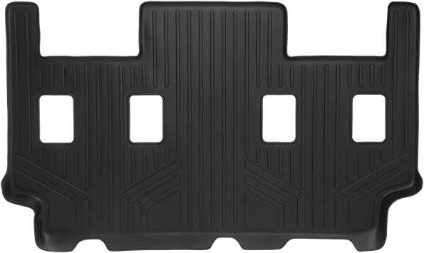 MAXLINER C0186 with 2nd Row Bucket Seats Or No 2nd Row Console SMARTLINER Floor Mats 3rd Row Liner Black for 2007-2017 Ford Expedition EL//Lincoln Navigator L