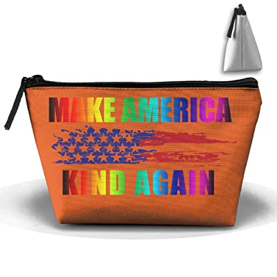 SESY Flag Make America Kind Again Hand Bag Pouch Portable Storage Bag Clutch Handbag