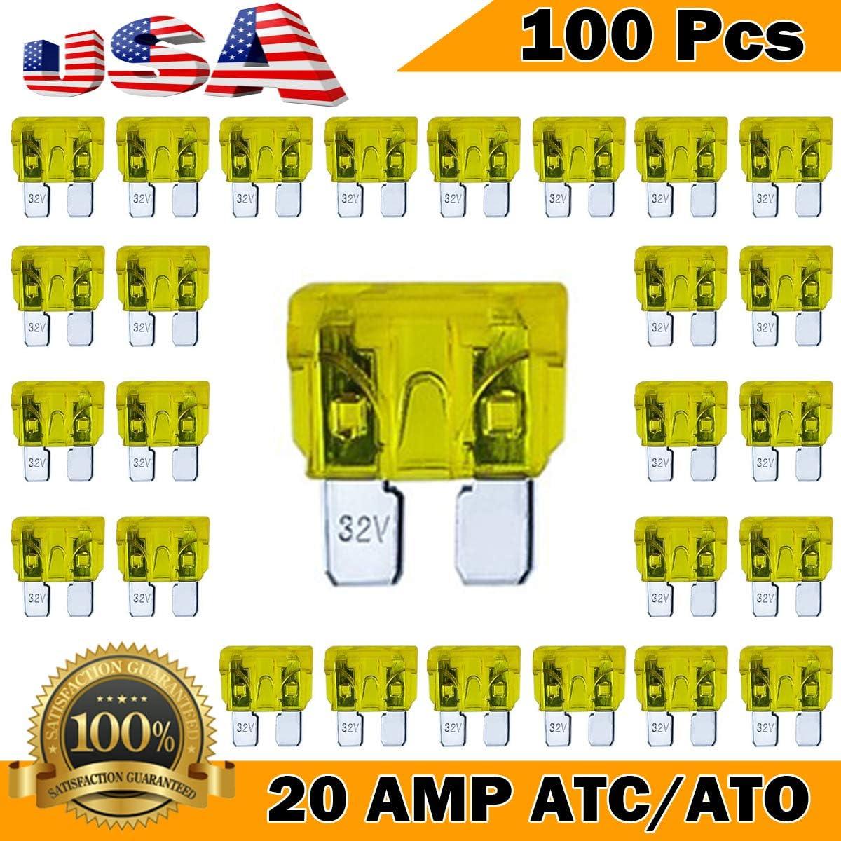 10 Pack 7.5 AMP ATC//ATO STANDARD Regular FUSE BLADE 7.5A CAR TRUCK BOAT MARINE
