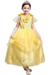 a01285aacc0c7 ... 子供用ドレス 薔薇スパンコール ふんわり しっかり3層構造 イエロードレス (120cm). ¥ 2