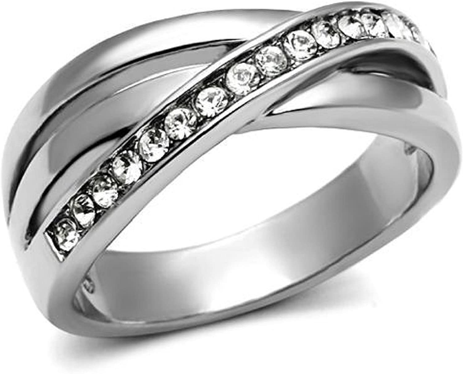 JEWURA Couple Love Ring Blue Line on Yellow Fashion Stainless Steel Jewelry