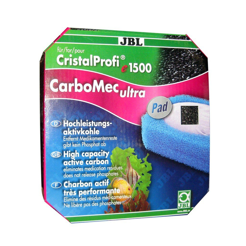 JBL CarboMec ultra Pad CristalProfi e15/1900/1,2, Kit bloc mousse et charbon actif de filtration pour CristalProfi e 7002063