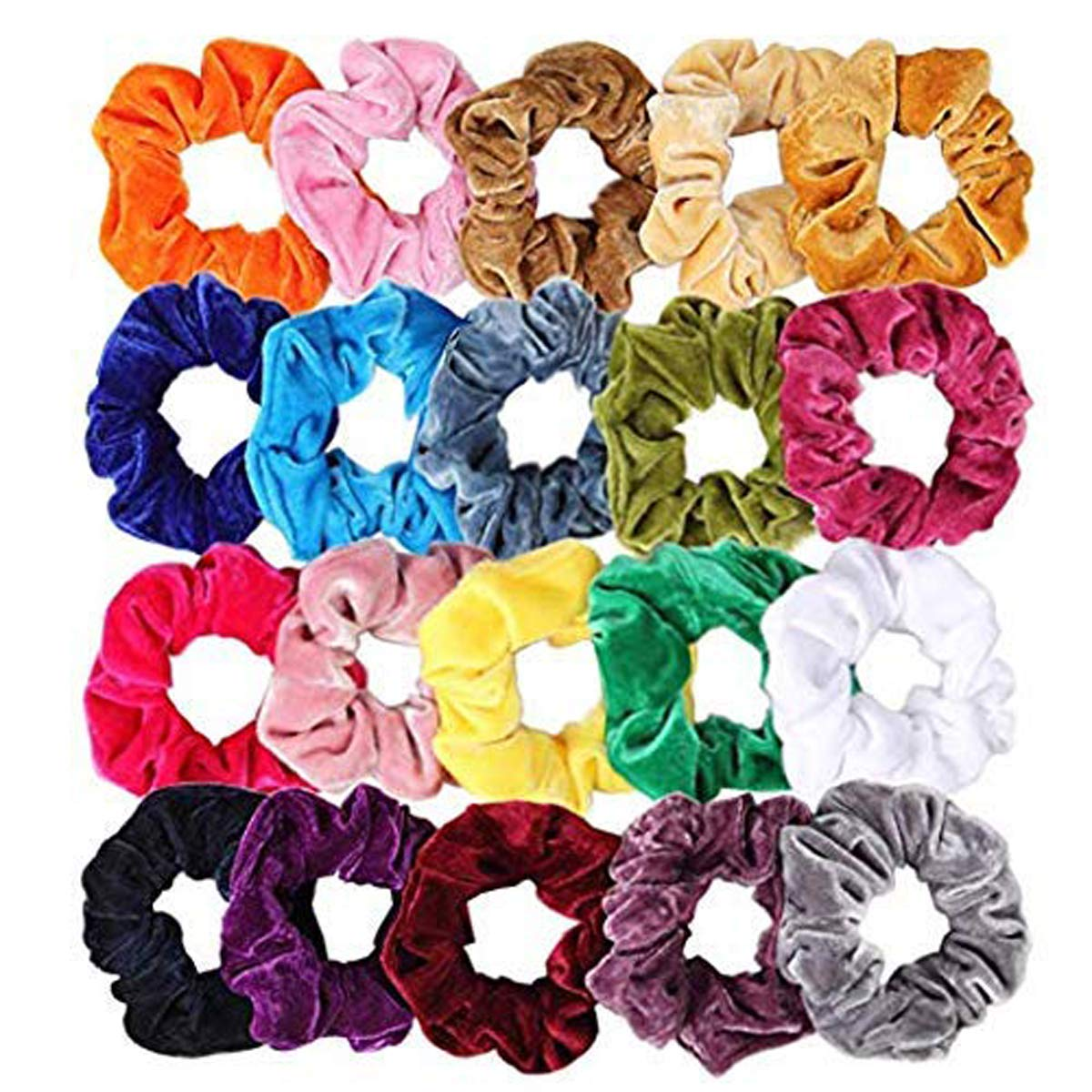 12 Pieces Multicolour Velvet hair band Scrunchies Bands Elastics Velvet Hair Bands for Women, velvet hair bands for girls latest