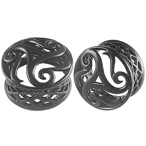 Amazon.com: 1 inch Gauges 26 mm Negro doble Flare Oreja ...