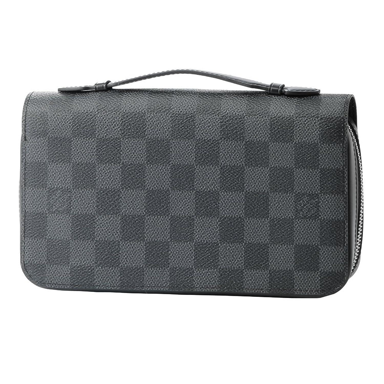 ルイヴィトン(Louis Vuitton) ダミエ グラフィット DAMIER GRAPHITE N41503 長財布(ラウンドファスナー) ブラック 黒/グレー[並行輸入品] B01MXJ627V
