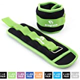 Ankle Weights for Women, Men and Kids - Strength Training Wrist/Leg/Arm Weight Set with Adjustable Strap for Jogging…