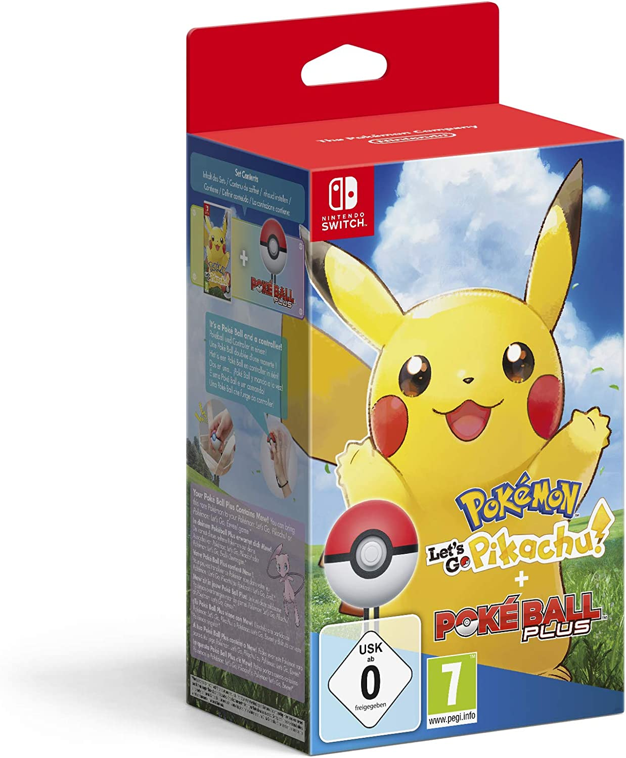 Pokémon: Lets Go, Pikachu! + Poké Ball Plus - Bundle Limited - Nintendo Switch [Importación italiana]: Amazon.es: Videojuegos