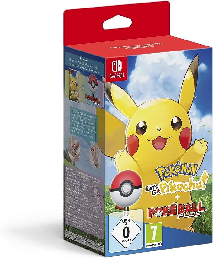 Pokémon: Lets Go, Pikachu! + Poké Ball Plus - Bundle Limited - Nintendo Switch [Importación italiana]: Amazon.es: Videojuegos