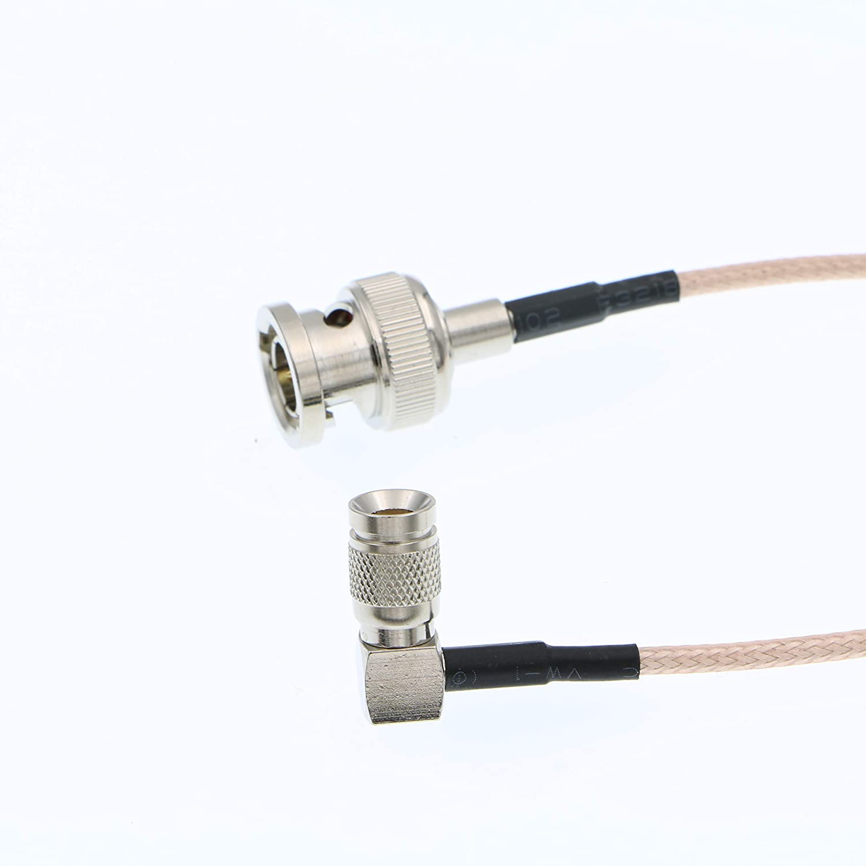 Alvins Cables DIN 1.0/2.3 Mini BNC en ángulo Recto a BNC Macho 75ohm RG179 HD SDI Cable para Blackmagic 1M: Amazon.es: Electrónica