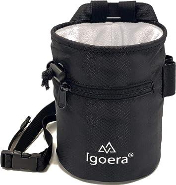 Igoera Bolsa magnesio Escalada, magnesera Robusta y Resistente al Polvo, Incl. cinturón de sujeción Ajustable, Chalk Bag para Mayor sujeción y ...