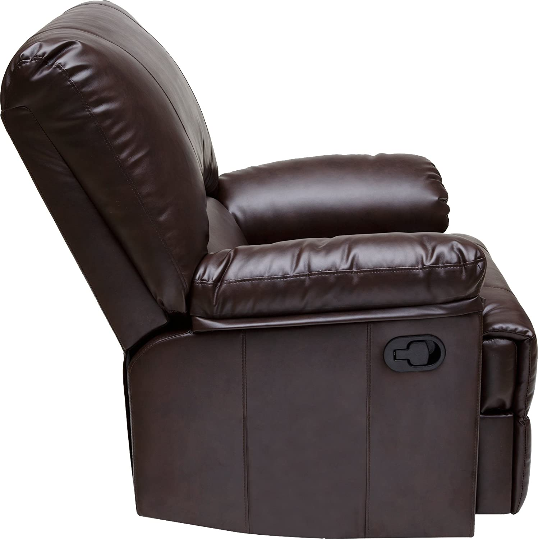 Amazon.com: Relaxzen 60 7000 Rocker Recliner, Brown Marbled Leather:  Kitchen U0026 Dining