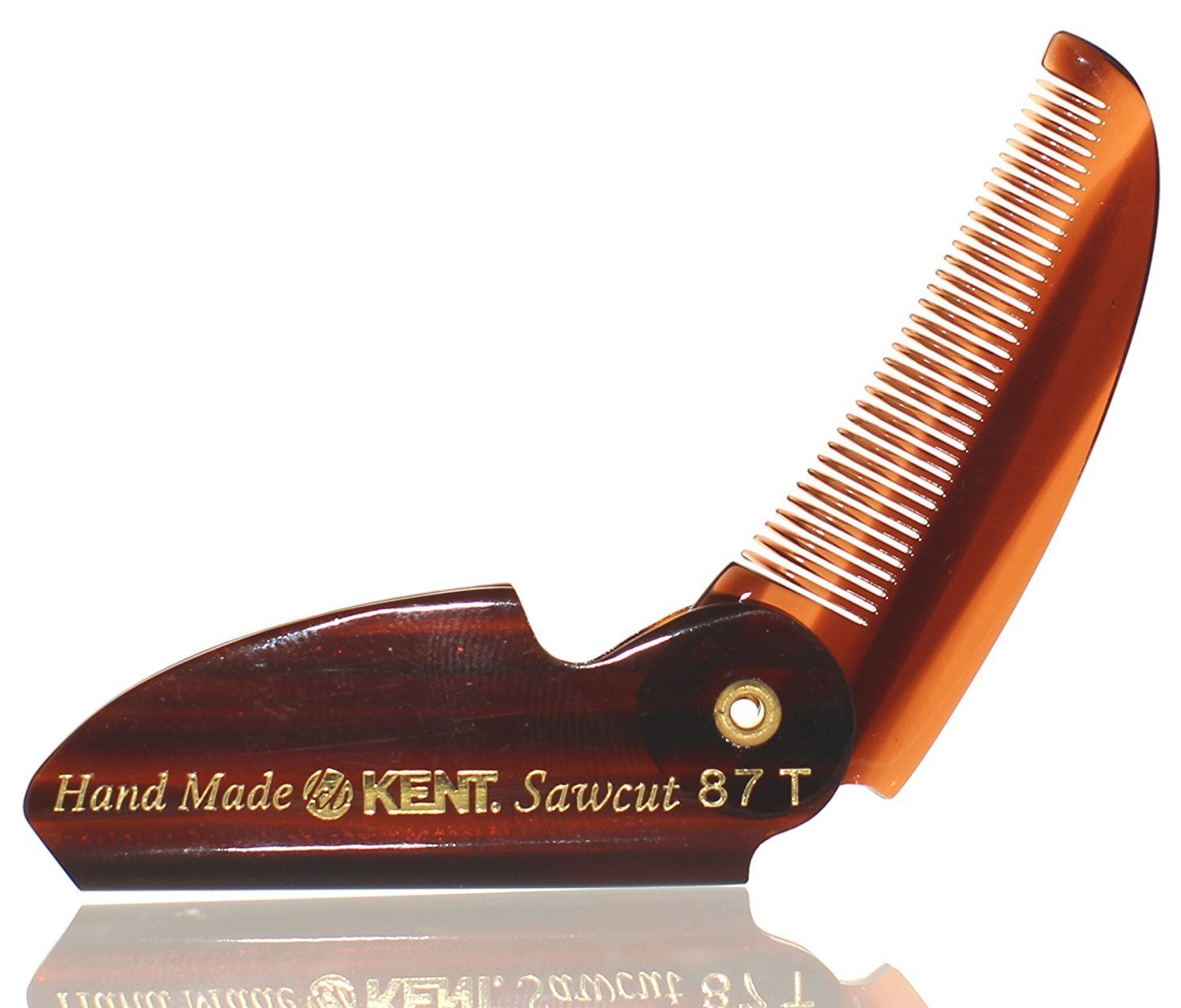 BRAND NEW LIMITED EDITION KENT 87T FOLDING BEARD & MUSTACHE COMB