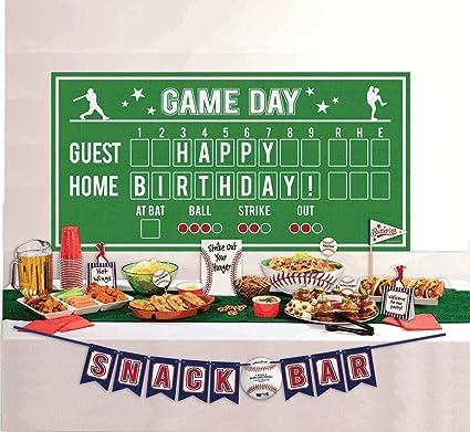 Amazon Com Baseball Buffet Mixed Decorating Kit 15pc Toys Games