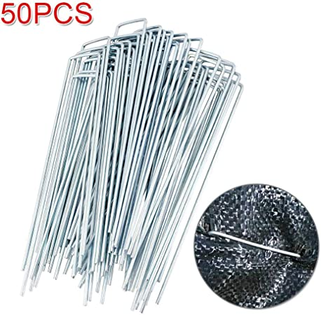 Pack Of 10 Galvanised Metal Ground U Tent Pegs Gazebo Camping Tarpaulin Hooks UK