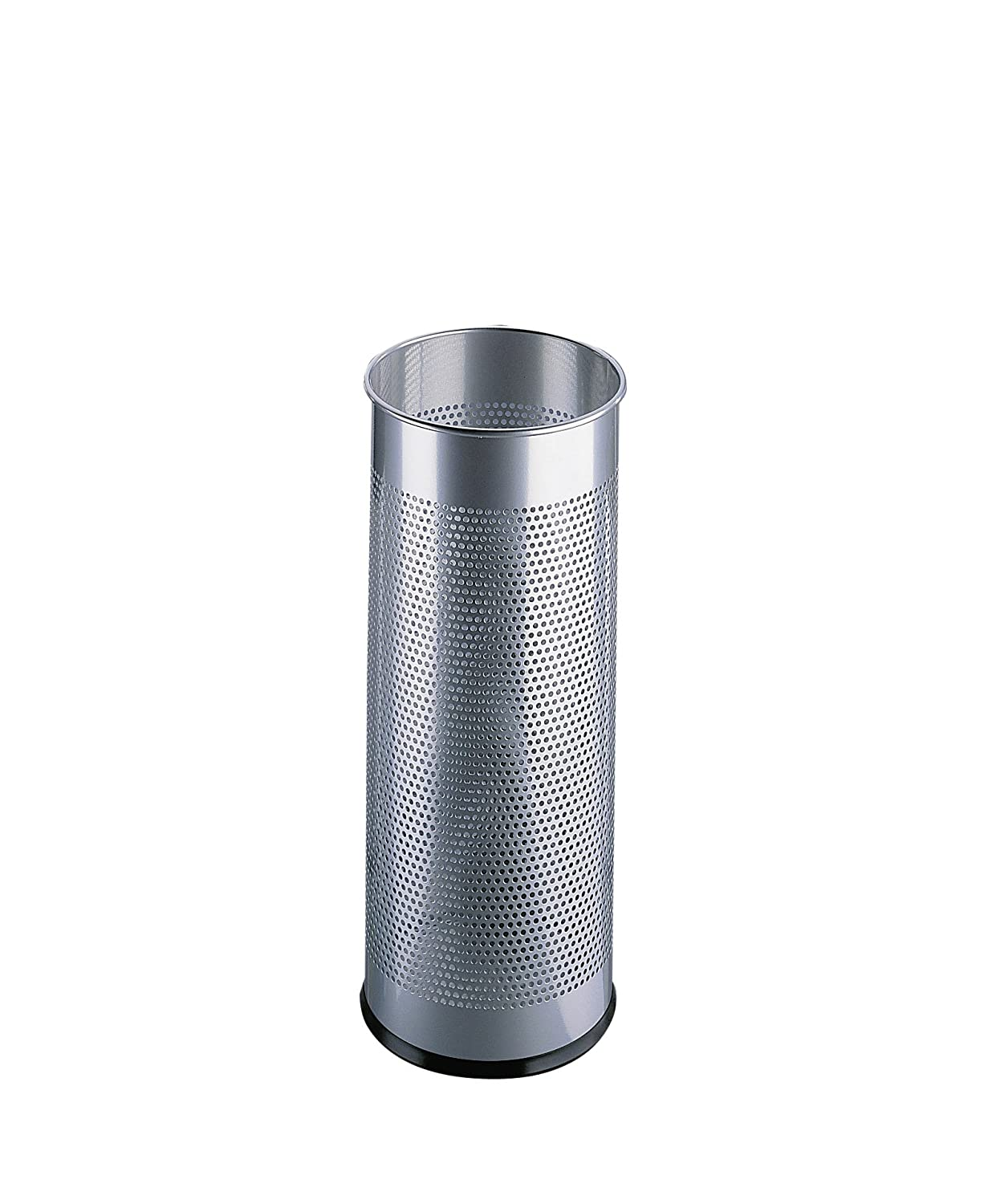 Durable Atlanta Umbrella Stand Tubular Metal Perforated 28.5 Litre - Silver Ref A2900-02618 Atlanta Office Products Ltd 335023
