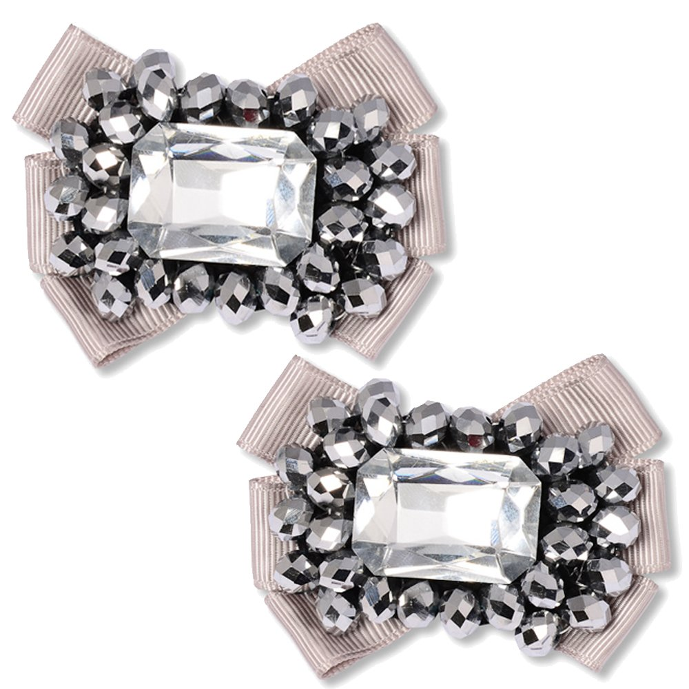 Grey Shoe Clips - Magda by Absolutely Audrey (Image #1)