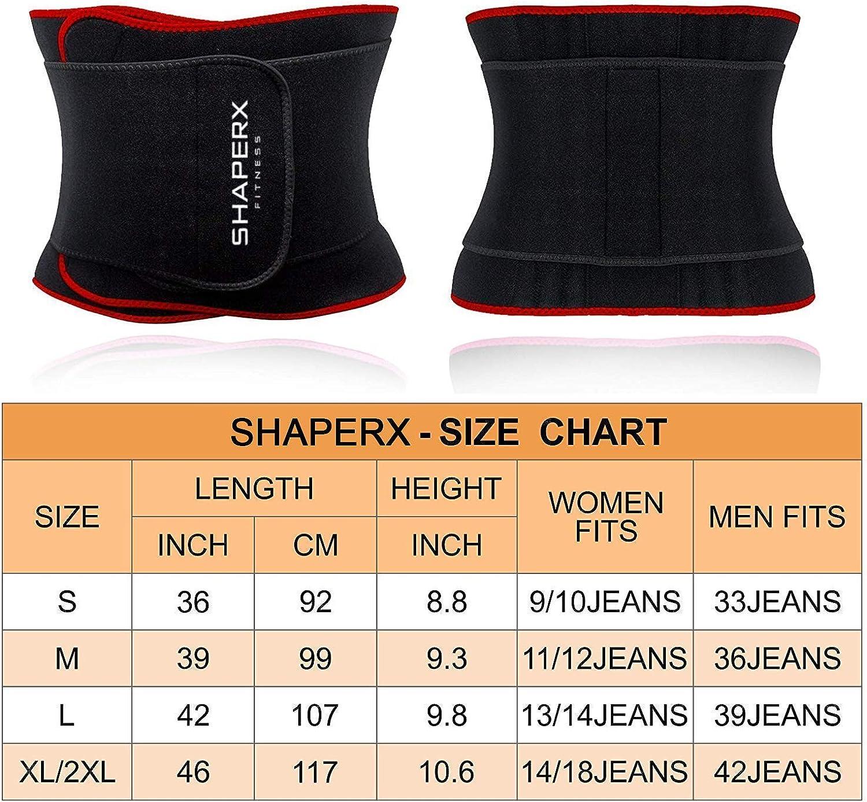 Waist Eraser Sauna Sweat Band Trainer for Weight Loss SHAPERX Waist Trimmer Belt