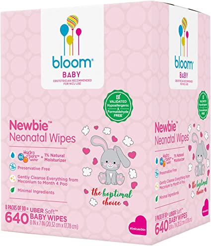 640-Count bloom BABY Sensitive Skin Unscented Hypoallergenic Baby Wipes