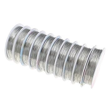 15 meter KUPFERDRAHT 0,4mm Silber Lackdraht Basteldraht SCHMUCKDRAHT ...