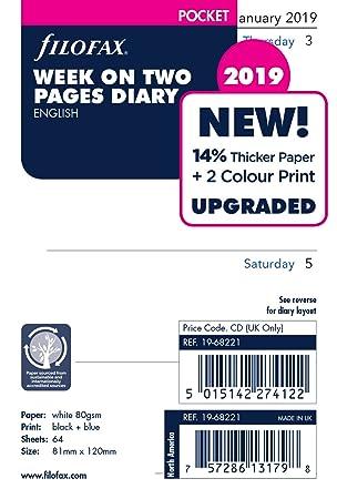 Filofax 19 - 68221 bolsillo semana en dos páginas Inglés ...