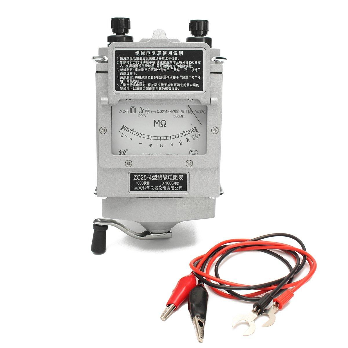 ChaRLes 1000M 1000V Megger Meter Isolation Tester Résistance Meter