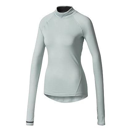 adidas Damen Sport Fitness Shirt PRIME TEE MIX tacticle stelle blau