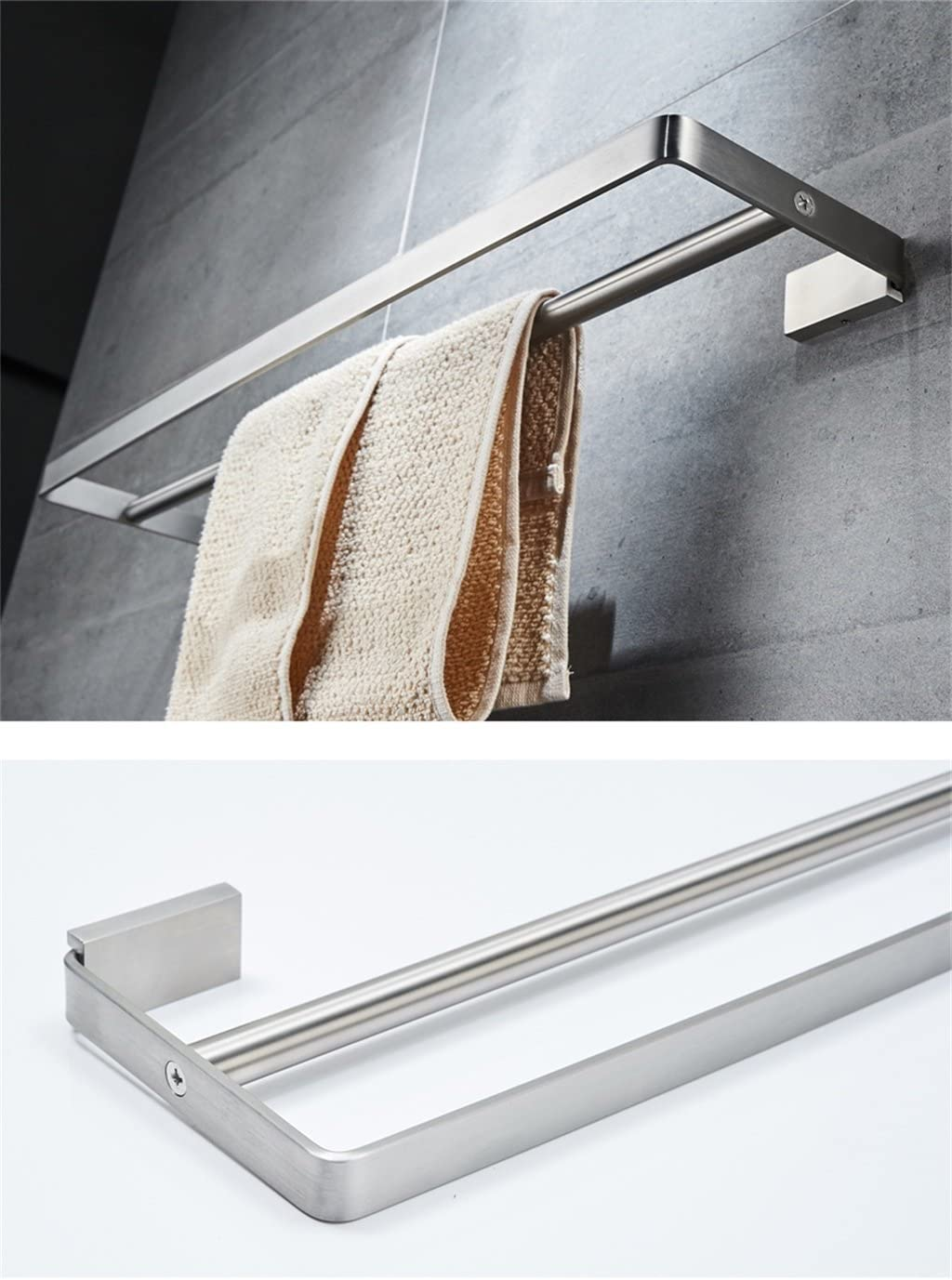 XUEYAN Edelstahl Handtuchhalter Doppel Bar Badezimmer WC