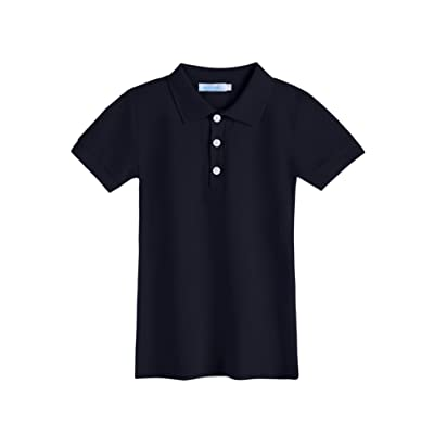 Arshiner Boys' Classic Short Sleeve Polo Shirt For School Uniform