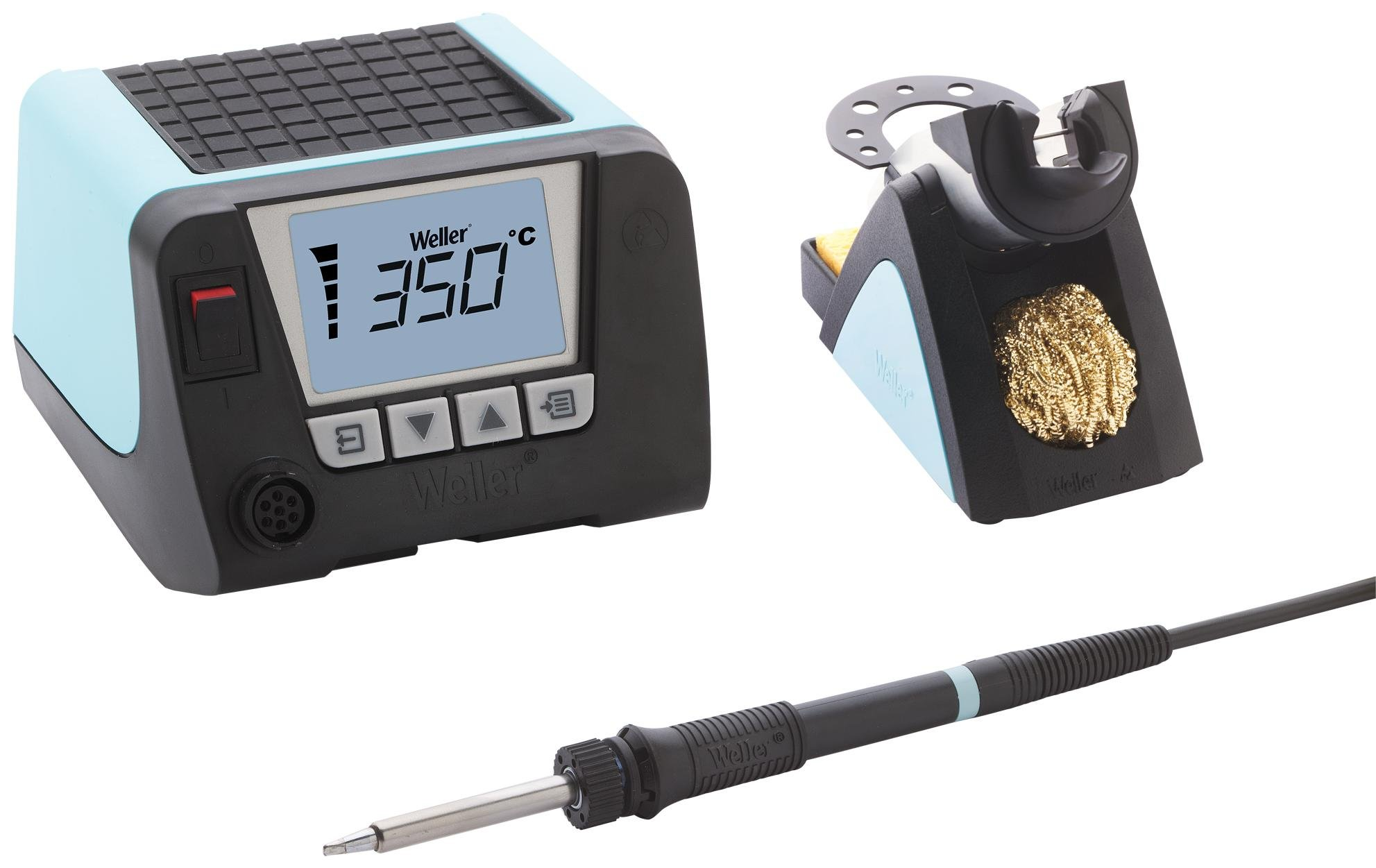 WT Series 1 Channel Stackable Power Unit with WSP80 Soldering Iron and Safety Rest, 120V